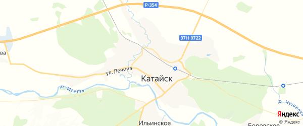 Карта Катайска с районами, улицами и номерами домов
