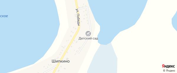 Набережная улица на карте деревни Шипкино с номерами домов