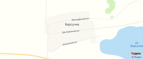 Карта деревни Барсучьего в Челябинской области с улицами и номерами домов