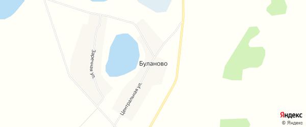 Карта села Буланово в Челябинской области с улицами и номерами домов