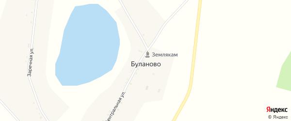 Центральная улица на карте села Буланово с номерами домов