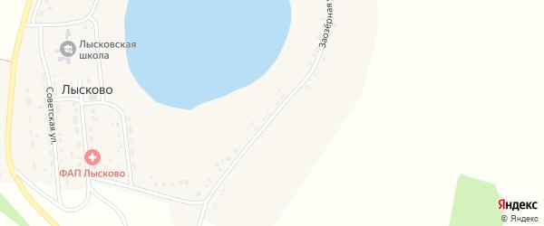 Береговая улица на карте села Лысково с номерами домов
