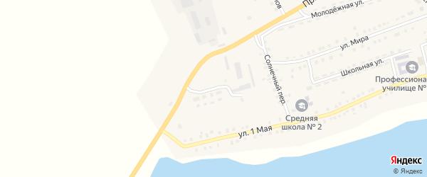Аэродромная улица на карте Октябрьского села с номерами домов