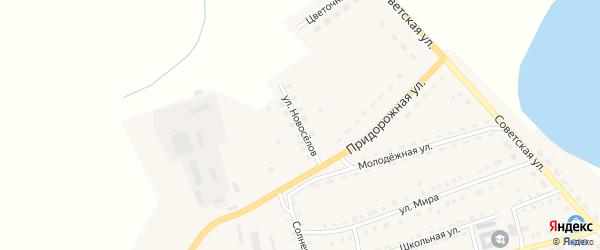 Улица Новоселов на карте Октябрьского села с номерами домов