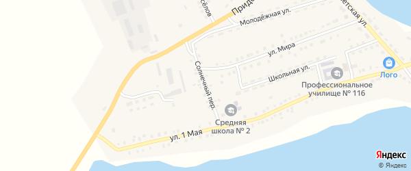 Солнечный переулок на карте Октябрьского села с номерами домов