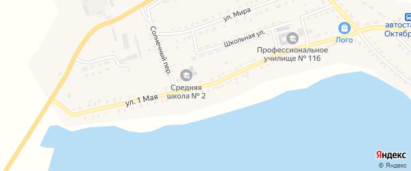 1 Мая улица на карте Октябрьского села с номерами домов
