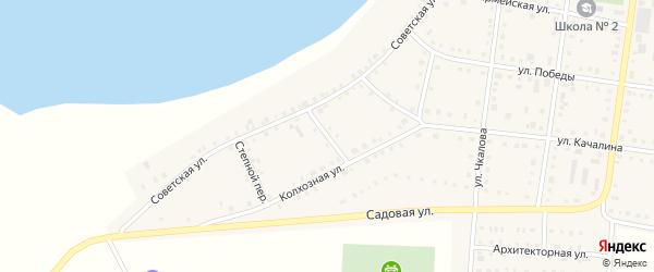 Лесной переулок на карте Октябрьского села с номерами домов
