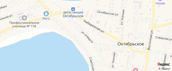 Улица 8 Марта на карте Октябрьского села с номерами домов