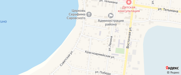 Улица Чкалова на карте Октябрьского села с номерами домов