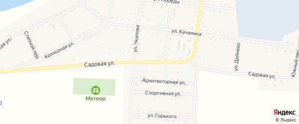 Садовая улица на карте Октябрьского села с номерами домов