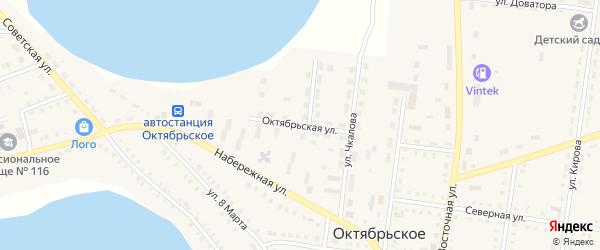 Октябрьская улица на карте Октябрьского села с номерами домов