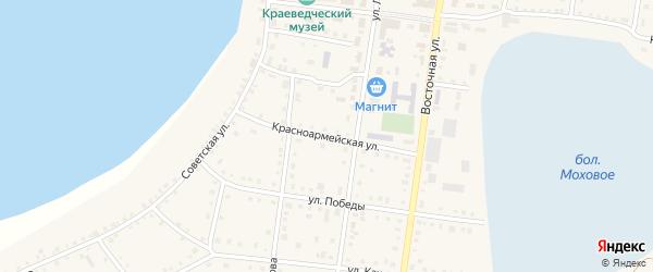 Красноармейская улица на карте Октябрьского села с номерами домов
