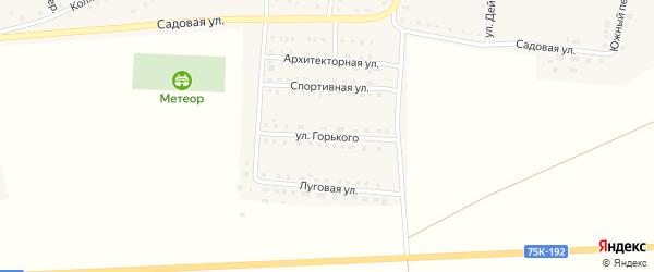 Улица Горького на карте Октябрьского села с номерами домов