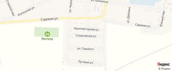 Спортивная улица на карте Октябрьского села с номерами домов
