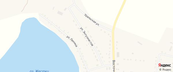 Улица Энтузиастов на карте Октябрьского села с номерами домов