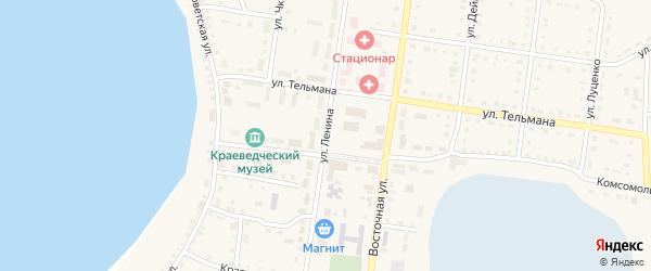 Улица Ленина на карте Октябрьского села с номерами домов