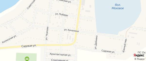 Улица Качалина на карте Октябрьского села с номерами домов