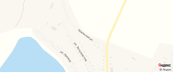 Уральская улица на карте Октябрьского села с номерами домов