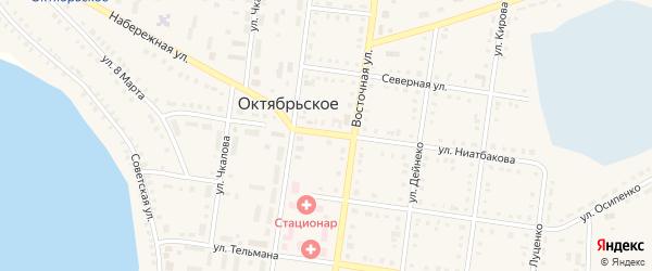 Школьный переулок на карте Октябрьского села с номерами домов