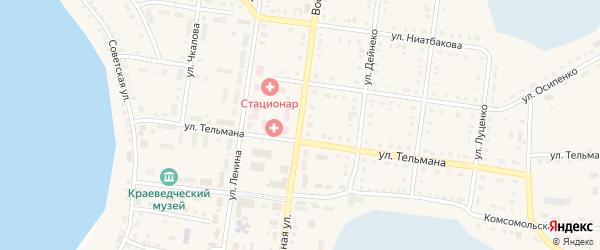 Восточная улица на карте Октябрьского села с номерами домов