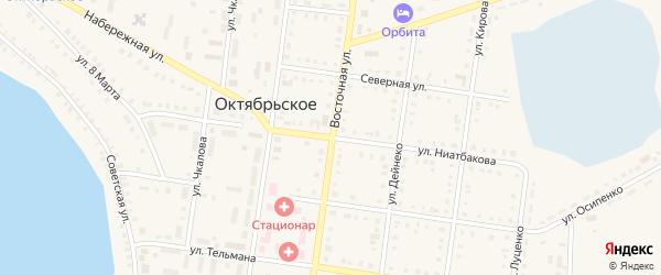 Улица Ниатбакова на карте Октябрьского села с номерами домов