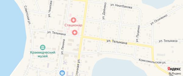 Улица Тельмана на карте Октябрьского села с номерами домов