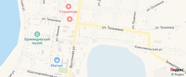 Улица Дейнеко на карте Октябрьского села с номерами домов