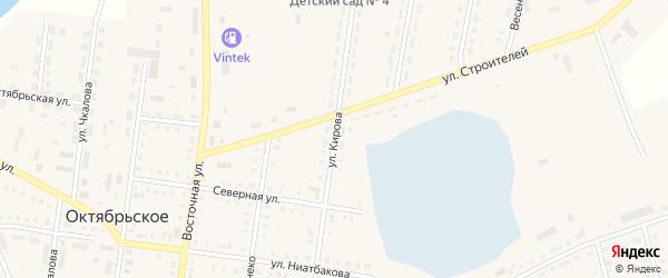 Улица Кирова на карте Октябрьского села с номерами домов