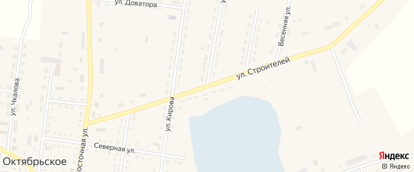 Улица Луценко на карте Октябрьского села с номерами домов