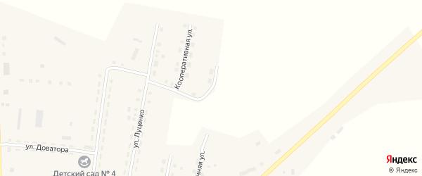 Улица Высоцкого на карте Октябрьского села с номерами домов