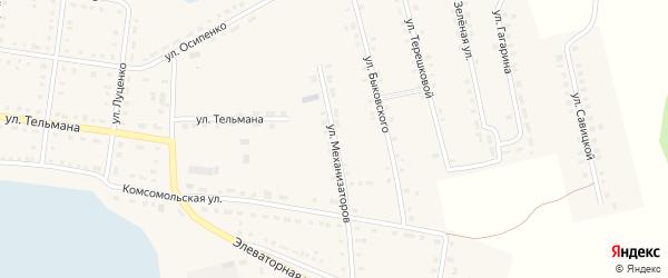 Улица Механизаторов на карте Октябрьского села с номерами домов