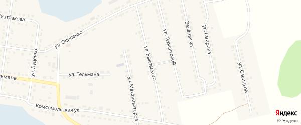 Улица Быковского на карте Октябрьского села с номерами домов