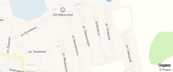 Улица Терешковой на карте Октябрьского села с номерами домов