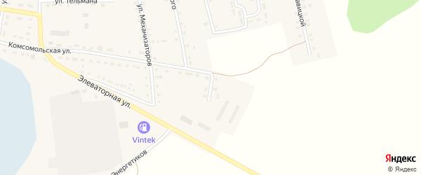 Березовый переулок на карте Октябрьского села с номерами домов