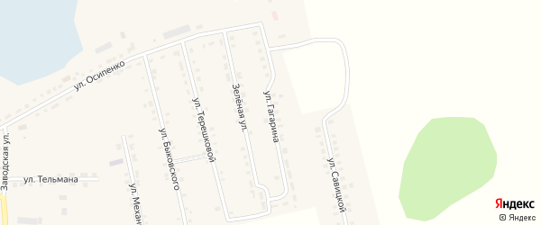 Улица Гагарина на карте Октябрьского села с номерами домов