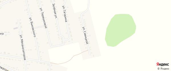 Улица Савицкой на карте Октябрьского села с номерами домов