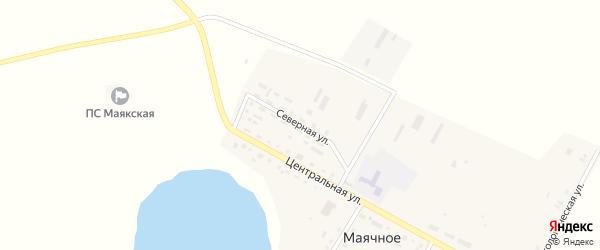 Северная улица на карте Маячного села с номерами домов