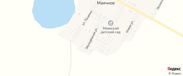 Молодежная улица на карте Маячного села с номерами домов