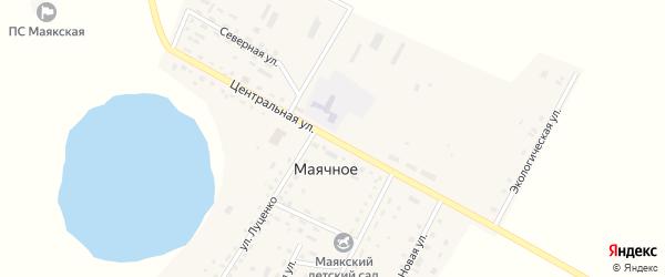 Центральная улица на карте Маячного села с номерами домов