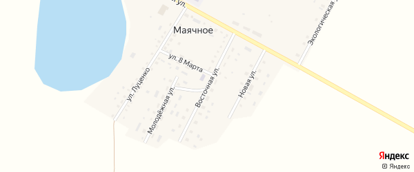 Восточная улица на карте Маячного села с номерами домов