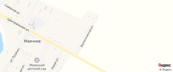 Экологическая улица на карте Маячного села с номерами домов