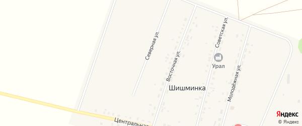 Северная улица на карте деревни Шишминки с номерами домов
