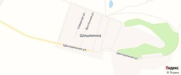 Карта деревни Шишминки в Челябинской области с улицами и номерами домов