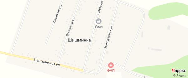 Советская улица на карте деревни Шишминки с номерами домов