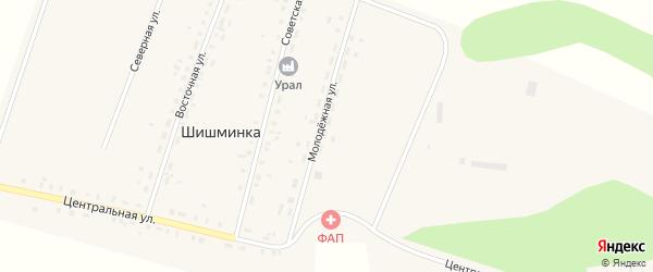 Молодежная улица на карте деревни Шишминки с номерами домов