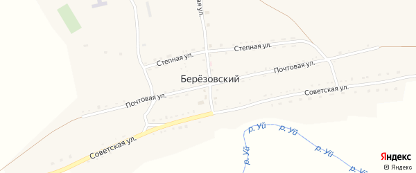 Степная улица на карте Березовского поселка с номерами домов