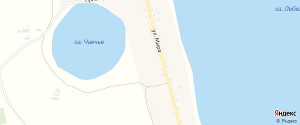 Придорожная улица на карте деревни Лебедки с номерами домов