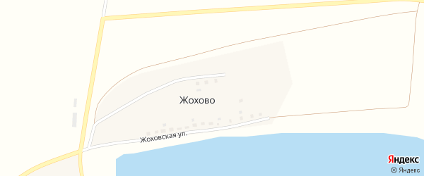Жоховская улица на карте деревни Жохово с номерами домов