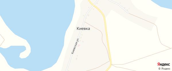 Киевская улица на карте деревни Киевки с номерами домов