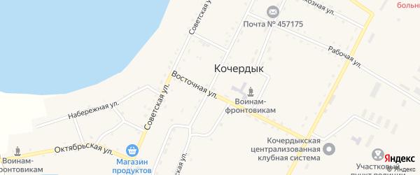 Первомайская улица на карте села Кочердыка с номерами домов
